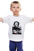 """Детская футболка классическая унисекс """"PUSHкин"""" - россия, пушкин, pushkin, pushкин"""