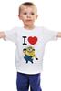 """Детская футболка классическая унисекс """"""""Мультик"""""""" - миньон, гадкий я, despicable me, minion"""