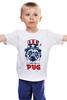 """Детская футболка классическая унисекс """"Мопс Президент (Obey pug)"""" - pug, obey, мопс, obey the pug, мопс президент"""
