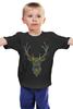 """Детская футболка """"Олень"""" - узор, олень, рога, deer"""