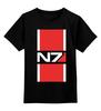 """Детская футболка классическая унисекс """"N7 (Mass Effect)"""" - mass effect, n7, масс эффект"""