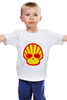 """Детская футболка классическая унисекс """"Shell Skull"""" - skull, череп, прикол, супер, стиль, логотип, shell"""
