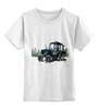 """Детская футболка классическая унисекс """"""""трактор"""" от михаила доманова"""" - авторские майки, прикольные, выделись из толпы"""