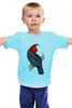 """Детская футболка """"Попугайчик"""" - арт, дизайн, птицы, природа, попугай"""