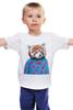 """Детская футболка классическая унисекс """"Красная панда"""" - арт, red, девушке, panda, animal, красная панда, dressed"""