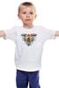 """Детская футболка """"сердце в клетке"""" - сердце, цветы, птицы, клетка, розы"""