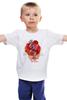 """Детская футболка """"It's UK"""" - крылья, корона, лондон, англия, герб, британия, алый, uk, соединенное королевство, фламинго"""