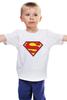 """Детская футболка классическая унисекс """"Супермен"""" - супермен, superman, логотип"""