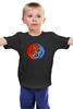 """Детская футболка классическая унисекс """"Yin Yang"""" - орёл, тигр, инь янь, yin yang, инь и янь"""