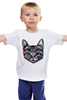 """Детская футболка """"Кот 3D"""" - кот, cat, 3d"""