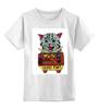 """Детская футболка классическая унисекс """"кот суши"""" - кот, cat, суши, япония"""
