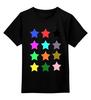 "Детская футболка классическая унисекс ""   Stars On The Black"" - stars, звёзды"
