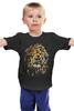 """Детская футболка классическая унисекс """"Царь зверей"""" - лев, lion, абстракция, царь зверей"""