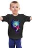 """Детская футболка классическая унисекс """"Swag cat"""" - кот, котенок, cat, космос, swag"""