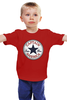 """Детская футболка классическая унисекс """"Капитан Америка (Captain America)"""" - converse, капитан америка, captain america"""