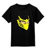 """Детская футболка классическая унисекс """"Скорпион (Мортал Комбат)"""" - скорпион, mortal kombat, мортал комбат, scorpion, мк"""