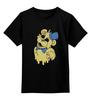 """Детская футболка классическая унисекс """"Golden Freddy"""" - пять ночей у фредди, five nights at freddy's, жёлтый медведь"""