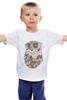 """Детская футболка классическая унисекс """"Совенок"""" - очки, сова"""