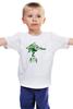 "Детская футболка ""Green 1"" - green, спираль, графика, дерево, tree, tm kiseleva"