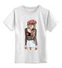 """Детская футболка классическая унисекс """"Девушка с венком"""" - девушка, girl, романтика, венок"""