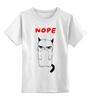 """Детская футболка классическая унисекс """"Угрюмый Кот"""" - мем, коты, grumpy cat, nope, угрюмый кот"""