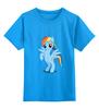"""Детская футболка классическая унисекс """"Рэйнбоу Дэш"""" - рисунок, pony, rainbow dash, mlp, пони"""