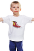 """Детская футболка """"Флеш. Flash. Кеды"""" - comics, flash, комиксы, флеш, кеды, dc comics, convereses"""