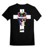 """Детская футболка классическая унисекс """"Long live the king"""" - skull, череп, арт, корона, крест"""
