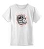 """Детская футболка классическая унисекс """"Gerber T"""" - flower, графика, геометрия, гербера, лайнарт, geometric, tm kiseleva"""