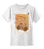 """Детская футболка классическая унисекс """"Bycicle&baloons"""" - арт, воздушные шары, велосипед, bike, ballon"""
