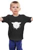 """Детская футболка классическая унисекс """"Round Sheep Black"""" - новый год, sheep, 2015, овечка"""