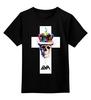 """Детская футболка классическая унисекс """"Long live the king"""" - skull, череп, корона, король"""