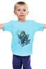 """Детская футболка классическая унисекс """"Лондон"""" - птица, лондон, трубка, джентльмен"""