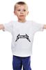 """Детская футболка классическая унисекс """"metallica"""" - рок, metallica, металлика"""