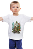 "Детская футболка классическая унисекс ""chameleon"" - tie, хамелеон, костюм, well dressed animal, suit"
