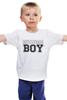"""Детская футболка классическая унисекс """"RUSSIAN BOY"""" - парню, russian, boy, русский мальчик"""