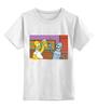 "Детская футболка классическая унисекс ""Homer and Bender"" - гомер, футурама, бендер, симпсоны"