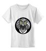 """Детская футболка классическая унисекс """"Сова-желтоглазая"""" - арт, стиль, глаза, жёлтый, птица, рисунок, птицы, графика, сова, совушка"""