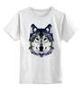 """Детская футболка классическая унисекс """"Серый Волк"""" - животные, animal, волк, wolf"""