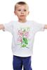 """Детская футболка """"Цветы душистый горошек"""" - арт, цветы, весна, акварель, spring, горошек"""