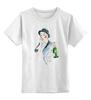 """Детская футболка классическая унисекс """"С праздником"""" - праздник, девушка, шляпа, шампанское, телефон"""