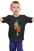 """Детская футболка классическая унисекс """"Граффити"""" - граффити, космос, абстракция, галактика, космонавт"""