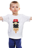 "Детская футболка ""Grand Master Bit"" - rap, pug, рэп, собака, swag, вектор, хип-хоп, цепи, мопс"