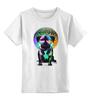 """Детская футболка классическая унисекс """"Диджей Мопс"""" - pug, диджей, мопс"""