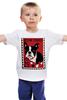 """Детская футболка классическая унисекс """"Boston Terrier"""" - dog, терьер, boston terrier, бостон терьер"""