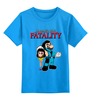 "Детская футболка классическая унисекс ""Mario x Sub-Zero (Mortal Kombat)"" - скорпион, саб зиро, scorpion, fatality, фаталити"