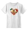 """Детская футболка классическая унисекс """"Skull Art"""" - skull, сердце, цветы, череп, heart"""