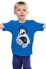 """Детская футболка классическая унисекс """"Медведь диджей"""" - музыка, bear, медведь, винил, диджей"""