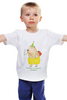 """Детская футболка классическая унисекс """"Праздничная капибара"""" - юмор, пожелание, капибара"""