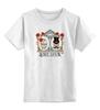 """Детская футболка классическая унисекс """"Настоящая любовь"""" - череп, любовь, цветы, настоящая любовь"""